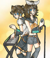 .: Len and Rin :. by buttfabric