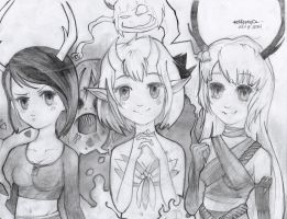 Iso, Anzu, and Nia [Miss-It-Girl] ***CONTEST ENTRY by marrero95ph