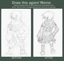 meme: Before and after by ayametaiushi