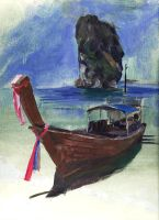 Krabi Long-Tail Boat by vee209
