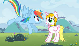 Request: Rainbowdash and Feathertouch by blackblade94