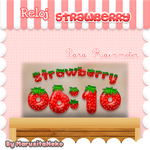 Reloj Strawberry =3 by marusitaneko
