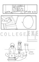 College EXE page 9 lineart by jojostory