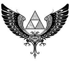 Tribal Triforce by handcannon17