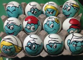 The Smurfs Easter eggs by Rene-L