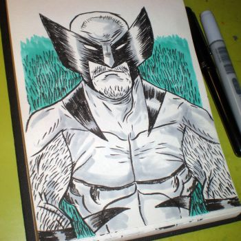 INKtober - Wolverine by Cosmic-Rocket-Man