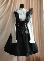 Infanta Button Corduroy Lolita Sundress by miccostumes