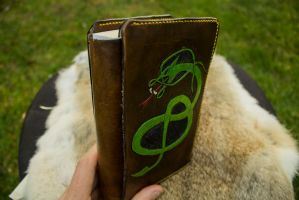 Hand made Adjustable Leather Book Cover 3 by yamori-san