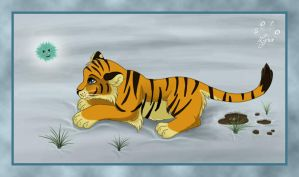 Tiger cub and Doudou by ClaireLyxa