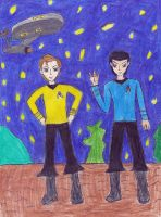 Kirk and Spock by LadyData