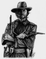 Clint Eastwood by incruentum