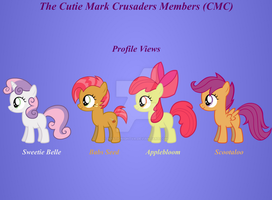 The Cutie Mark Crusaders Profile Views and Bios by LoraLion