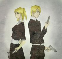 Arthur and Rose. England and his Fem version. by AsmodeusSchizophrene