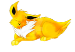 Angry Jolteon by AceHeartLove