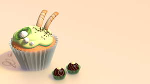 Kiwi cupcake and other delicacies by kuph