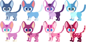 PRICES LOWERED Cat adoptables 4 8 LEFT by AdolfWolfed4Life