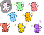 Colorful Cat Adopts by MissingOne123