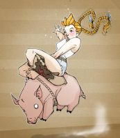 Pig Rodeo by paulorocker
