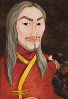 Man and hawk by Ktoya