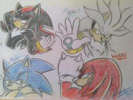My first Sonic friends sexy by Mimy92Sonadow