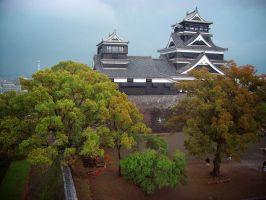 Kumamoto Castle by august-fehrmont