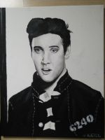Elvis Presley painting by KateTale