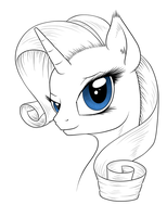 Sketch : Rarity by Mekamaned