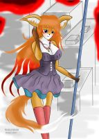 Furry Red Fox dress by WOLF8989