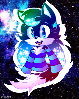 Melody The Wolf (Art Trade 2.0) by flame-finn-marce