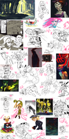 SKETCHDUMP #13- HORNY AND WEIRD by P-cate