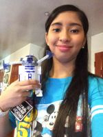 Me and my new R2-D2 Lights Spinner toy by Magic-Kristina-KW
