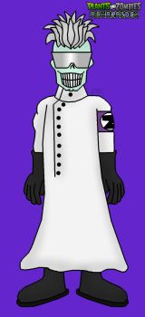 Plants vs. Zombies: Armagarden - Scientist Zombie by Rose-Supreme