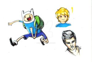 Finn the Human sketch by FireDestined4