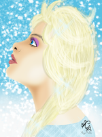 Queen Elsa by Angie-Andrea