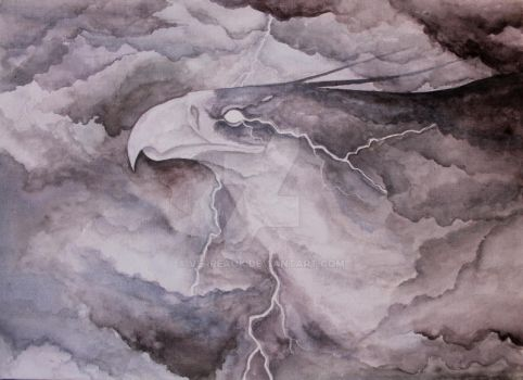 Thunderbird watercolor by verreaux