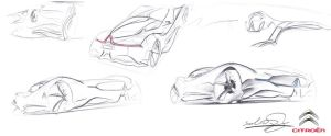 Citroen GT sketches by dyrborgdesign