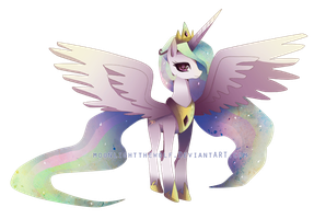 Princess Celestia by MoonlightTheWolf