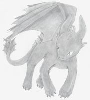 Toothless From How to Train Your Dragon by mydragonrjasperandme