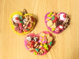 pig out platter charms by jong28