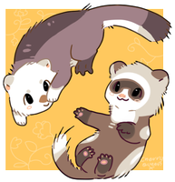 Ferret N Otter by Pand-ASS