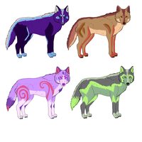 Wolf Adoptables :OPEN: by dayylights