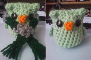 Merlin, the Slytherin Owl by CreationsbyJolie