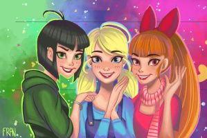PowerPuff Girls by lanfanarts