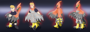 Gift: Fiery Suit (Talonflame TF TG) by PhoenixWulf