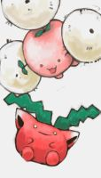 hoppip and jumpluff by SailorClef