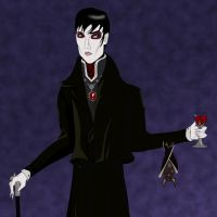 Portrait of Barnabas Collins. by lexseven