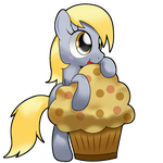 derpy and muffin~~ by hoyeechun