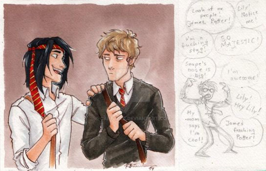 Young Sirius and Remus by CaptBexx