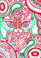 ACEO: Pink Labyrinth by lutamesta