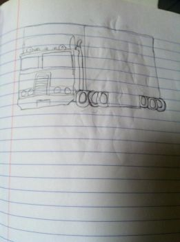 Optimus prime Truck form by duncanandgwenforever